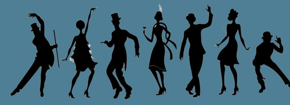 silhouette of 20s dancers